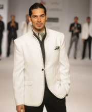 Manoviraj Khosla - Bollywood Star Dino Morea walks the ramp for Designer Manoviraj Khosla