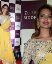 Esha Gupta's Wears Stylish Anita Dongre Saree