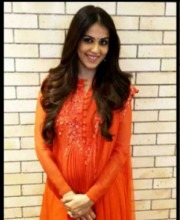 Genelia D'Souza in designer Ridhi Mehra
