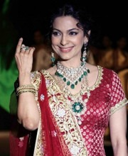 Bollywood actress Juhi Chawla At India International Jewellery Week