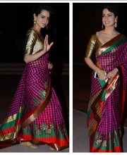 Kangana Ranaut in a Saree by Manish Malhotra