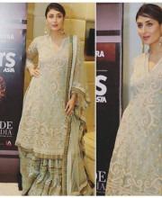 Kareena Kapoor looking glamorous in a suit by Tarun Tahiliani