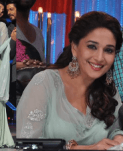Madhuri Dixit in Designer earrings Indian Fashion Designer Roopa Vohra