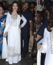 Madhuri Dixit In a White Anita Dongre Outfit