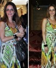 Sussanne Roshan in Indian Designer Malini Ramni's dress