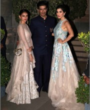 Aditi Rao Hydari and Sophie Choudry with Manish Malhotra