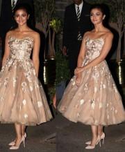 Alia Bhatt in a Custom Manish Malhotra Embroidered Dress