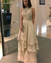 Mahira Khan in a Stunning Ivory Gown by Manish Malhotra