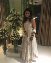 Urmila Matondkar in a White Embroidered Manish Malhotra Dress