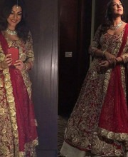 Sushmita Sen in a Glamorous Red Outfit by Manish Malhotra