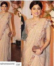 Shamita Shetty in a Signature Saree by Manish Malhotra
