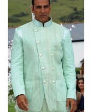 Akshay Kumar in a Sea Green Sherwani by Manish Malhotra