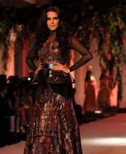 IBFW 2013: Neha Dhupia - Gothic Bride for Indian Designer Falguni Shane
