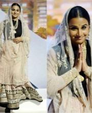 Vidya Balan - indian fashion designer Sabyasachi Mukherjee - Lengha - Cannes
