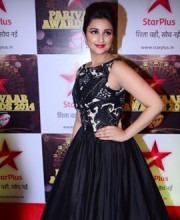 Parineeti Chopra in a Siddartha Tytler gown at Star Parivaar Awards 2014