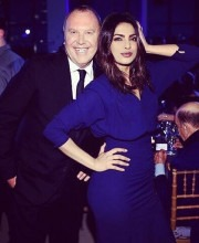 Priyanka Chopra  Wearings Michael Kors Evening Dress