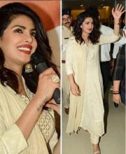Priyanka Chopra Dons a Sophisticated Anita Dongre Suit