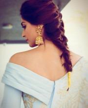 Sonam Kapoor Sports Beautiful Jewellery - Jhumka Earrings by Kalyan Jewellers