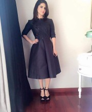 Sunny Leone in a Black coloured Handwoven Rinku Sobti Dress