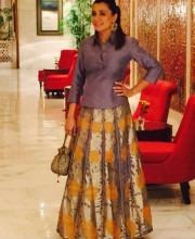Mini Mathur Rocks the Pineapples in a Skirt from Rinku Sobti