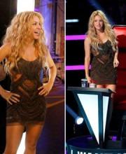 Shakira Wearing Khushali Kumar | Shakira in an indian designer dress on the voice