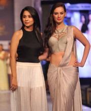 Elven Sharma and Sonaakshi Raaj On The Catwalk | Elven Sharma Spotted in Sonaakshi Raaj at the Rajasthan Fashion Week