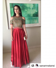 Shraddha Kapoor Wears Intricately Embroidered Dress