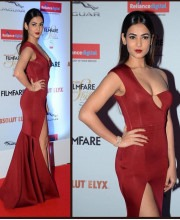 Sonal Chauhan Wearings an Incredible Red Gown