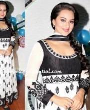 Sonakshi Sinha in Indian Designer Anita Dongre's Anarkali Suit