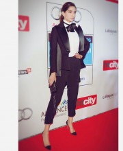 Sonam Kapoor Goes Suited And Booted To The HT Awards
