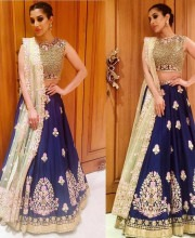 Sophie Choudry Wears Heavenly Embroidered Lehenga