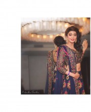 Pranitha Subhash in a Stunning Blue Embroidered Lehenga