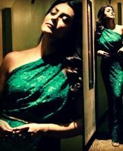 Sushmita Sen Looks Elegant in Emerald Dress for Jaguar Launch