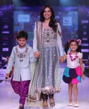 Tanisha Mukherjee in a dress by Indian Designer Payal Singhal