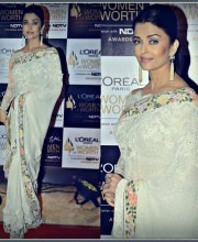 Aishwarya Rai at the L'oreal Woman of Worth Awards 2016 from Tarun Tahiliani