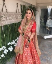 Wedding Lehenga by Manish Malhotra | Urmila Matondkar's Surreal Wedding Outfit