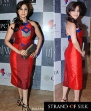 Urmila Matondkar in a dress by Indian Designer Anita Dongre