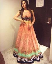 Zareen Khan Sports a Beautiful Peach Dress
