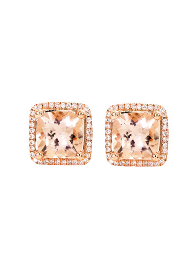 Indian Accessories Designers - Costar - Indian Fine Jewellery - Designer Earrings - SOS-AW15-CJ-RE22332P-MO - Pink Gold Stud Earrings