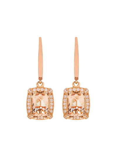 Indian Accessories Designers - Costar - Indian Fine Jewellery - Designer Earrings - SOS-AW15-CJ-RE33488P-MO - Cushion Cut Dangler Earrings