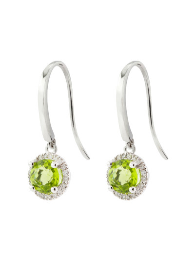 Indian Accessories Designers - Costar - Indian Fine Jewellery - Designer Earrings - SOS-SS15-CJ-RE33441W-GAM - Green Amethyst Earrings