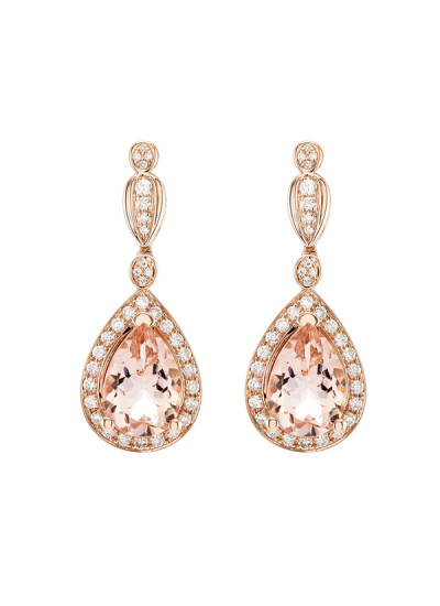 Indian Accessories Designers - Costar - Indian Fine Jewellery - Designer Earrings - SOS-SS15-CJ-RE33481P-MO - Pear Shaped Stone Earrings