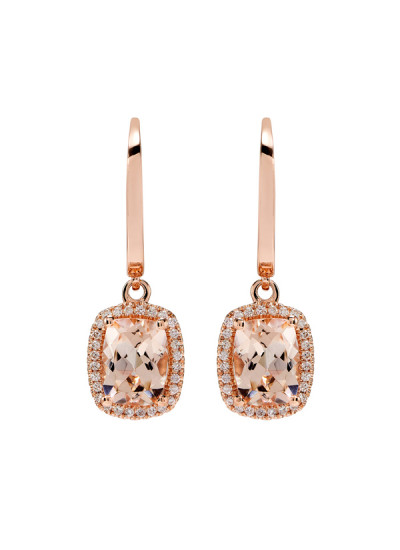 Indian Accessories Designers - Costar - Indian Fine Jewellery - Designer Earrings - SOS-SS15-CJ-RE33484P-MO - Cushion Cut Stone Earrings