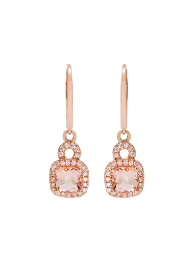 Indian Accessories Designers - Costar - Indian Fine Jewellery - Designer Earrings - SOS-SS15-CJ-RE33497P-MO - Elegant Pink Gold Earrings