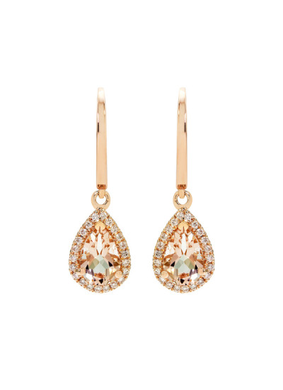 Indian Accessories Designers - Costar - Indian Fine Jewellery - Designer Earrings - SOS-SS15-CJ-RE33515P-MO - Chic Pear Cut Stone Earrings