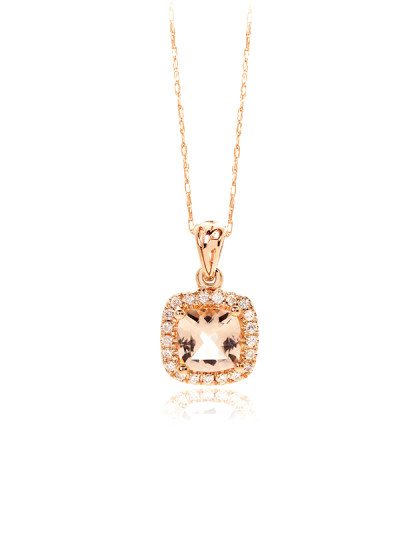 Indian Accessories Designers - Costar - Indian Fine Jewellery - Designer Necklaces - SOS-AW15-CJ-RP22322P-MO - Chic Cushion Cut Pendant