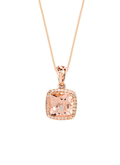 Indian Accessories Designers - Costar - Indian Fine Jewellery - Designer Necklaces - SOS-AW15-CJ-RP33448P-MO - Alluring Cushion Cut Pendant