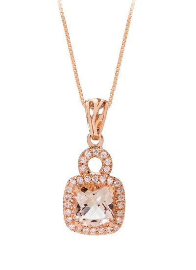 Indian Accessories Designers - Costar - Indian Fine Jewellery - Designer Necklaces - SOS-SS15-CJ-RP33497P-MO - Delightful Cushion Shaped Pendant