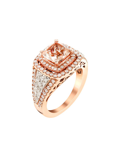 Indian Accessories Designers - Costar - Indian Fine Jewellery - Designer Rings - SOS-AW15-CJ-R11666P-MO - Stunning Pink Gold Ring
