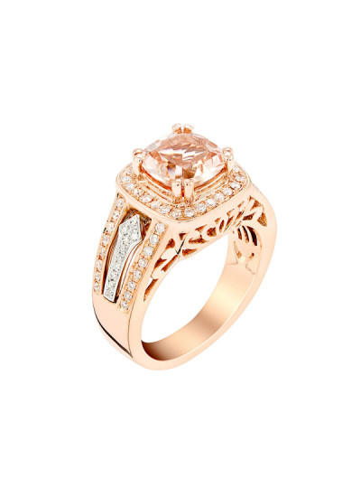Indian Accessories Designers - Costar - Indian Fine Jewellery - Designer Rings - SOS-AW15-CJ-R11668P-MO - Scintillating Pink Gold Ring